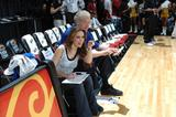 Alyssa Milano @ McDonald's All-Star Celebrity Game on center court during NBA Jam Session