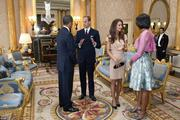 Prince William and Princess Catherine with President Obama and First Lady Michelle Obama at Buckingham Palace in London on May 24, 2011