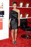 Emmanuelle Chriqui shows legs in black dress at You Don't Mess With The Zohan screening in NY