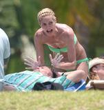 Heidi Klum - Green bikini candids during a holiday in Mexico, 9th May 2008 -  [x9HQs]